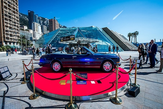 A Bentlzy Azure painted with two million diamonds, on show at Top Marques Monaco 2017. (Image:  Top Marques Monaco)