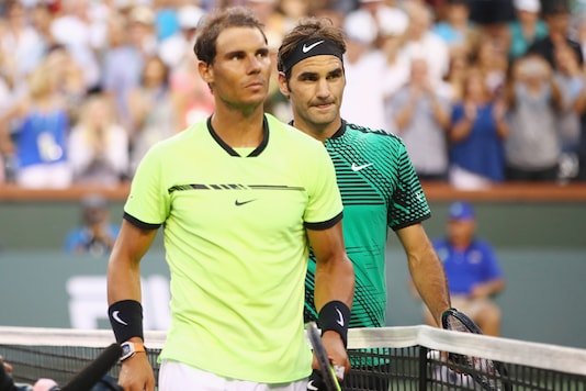 Rafael Nadal and Roger Federer. (Photo Credit: Getty Images)