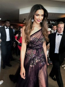 Cannes: Bollywood actress Deepika Padukone at the opening ceremony of the 70th international film festival, Cannes, France, Wednesday. (Image: PTI)