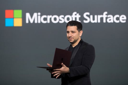 Panos Panay, vice president of Microsoft Surface Computing, speaks about the Microsoft Surface Laptop during a Microsoft launch event, May 2, 2017 in New York City. (Images: Getty Images)