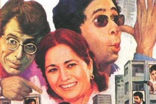 A poster of Jaane Bhi Do Yaaro.