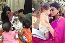 Karanvir Bohra's Twins Meet Shweta Tiwari's Newborn, Bond With Mouni Roy