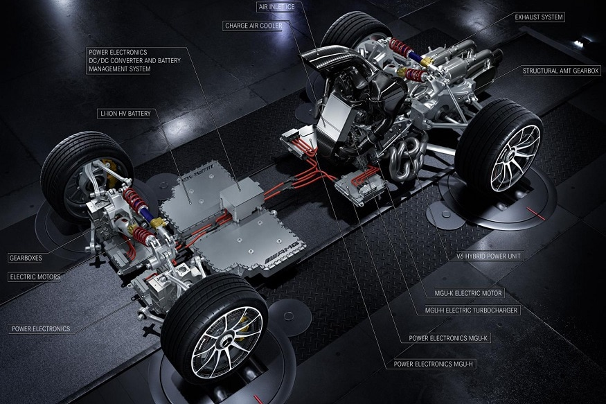 Mercedes-AMG Project One Powertrain. (Image: Mercedes-AMG)