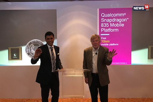 Qualcomm recently talked about its much hyped Snapdragon 835 processor, from its features to the user experience that it has delivered. (Image: News18.com/Sarthak Dogra)