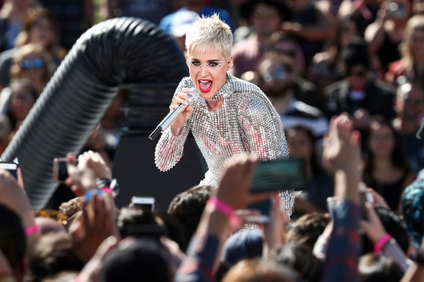 Katy Perry performs during 'Katy Perry - Witness World Wide' exclusive YouTube Livestream Concert at Ramon C. Cortines School of Visual and Performing Arts on Monday, June 12, 2017, in Los Angeles. (Image: AP)