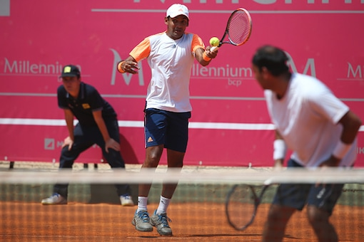 Divij Sharan in action. (Getty Images)