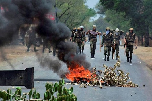 A picture of farmers' protest for representation. (Photo: PTI)