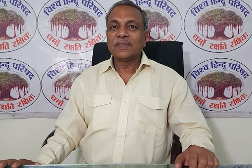 Vishwa Hindu Parishad's International Joint Secretary Surendra Jain was in New Delhi on Friday and spoke to News18's Uday Singh Rana in an interview about the government's delay in bringing about a law to construct a Ram Temple in Ayodhya. (Photo: Uday Singh Rana/News18.com)