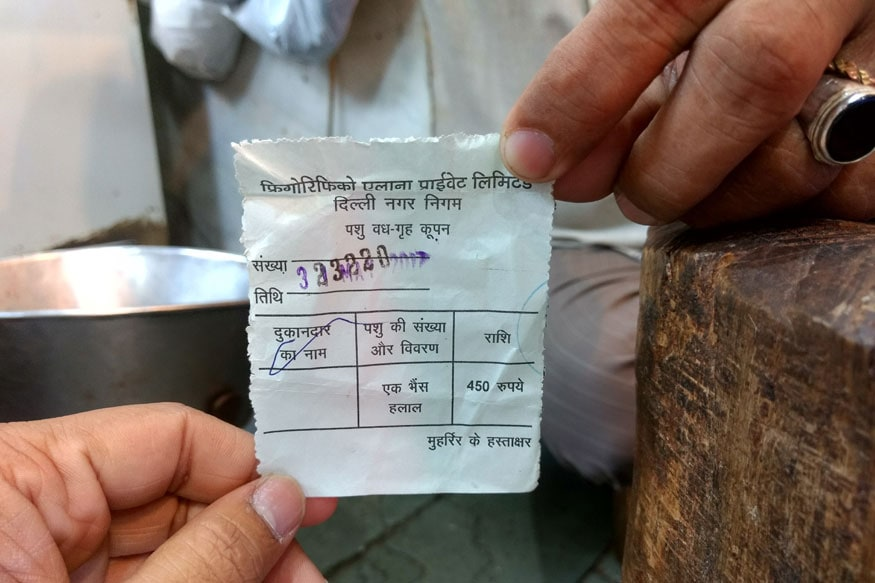 Each meat shop owner pay a tax of Rs 450 to MCD for transporting one buffalo for slaughter.