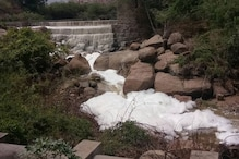 After Bengaluru's Varthur Lake, Toxic Foam From Hyderabad Drain Spills Onto Road