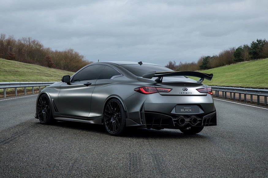The Project Black S features a stand-out, aerodynamically-optimized new design. (Image: Infiniti)