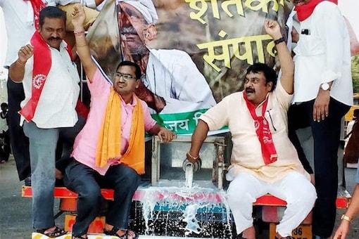File photo of farmers protest in Nagpur. Representative image. PTI Photo