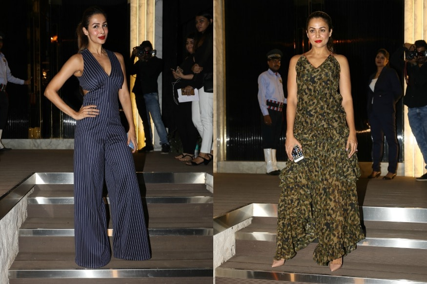 Sisters Malaika and Amrita arrive at the opening of restaurant 'Arth', designed by Gauri Khan.