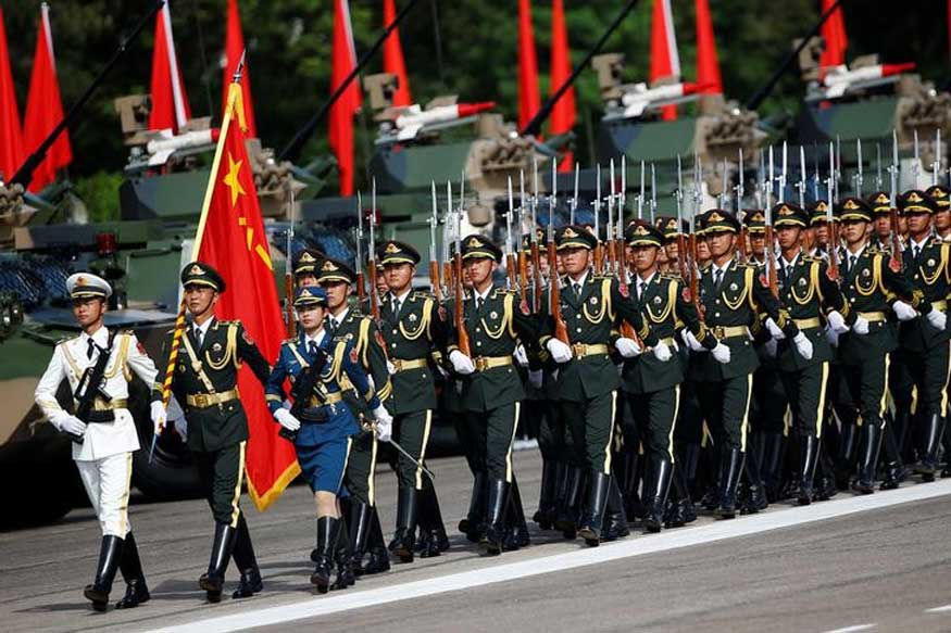 Chinese Military Conducts Dress Rehearsal for its Largest Parade on Oct 1 to Celebrate 70th National Day