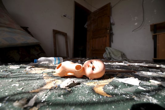 A broken toy lies among debris in a house. (Picture for representation: Reuters)