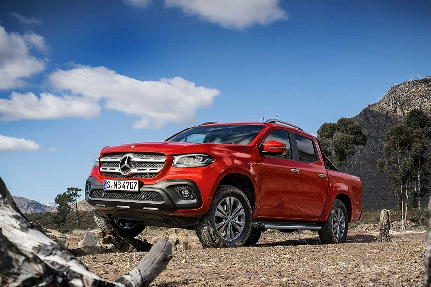 mercedes benz x class unveiled company 39 s first pickup truck news18. Black Bedroom Furniture Sets. Home Design Ideas