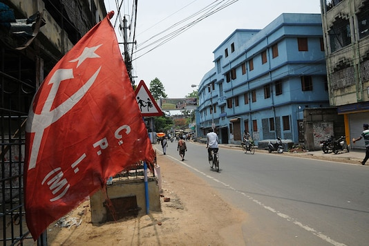 The Left Party flag at Howrah area in Kolkata. (Image for representation)