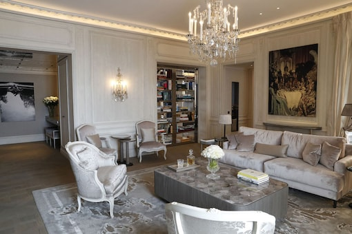 A room of the 'Grands Appartements' decorated by German fashion designer Karl Lagerfeld at the Hotel de Crillon in Paris. (Photo courtesy: AFP Relaxnews/ PATRICK KOVARIK)