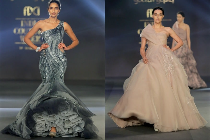 (Photo: Gaurav Gupta showcases his collection 'Moondust at ICW 2017/W Five Communication)
