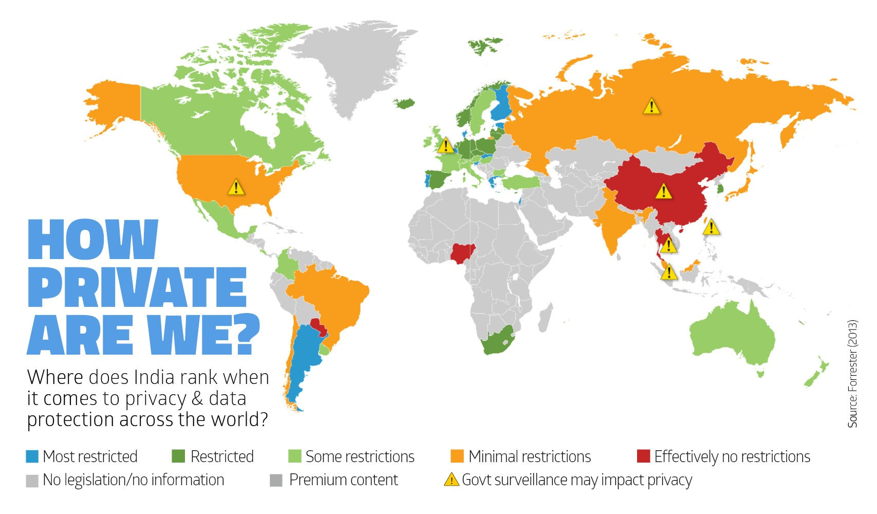 PRIVACY AND DATA PROTECTION BY COUNTRY