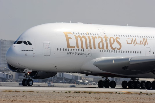A file photo of an Emirates Airlines plane.