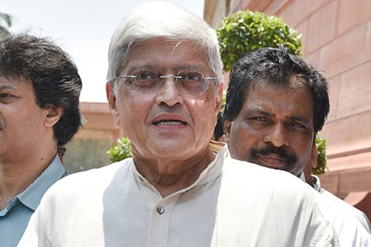 File photo of losing Opposition's Vice Presidential candidate Gopalkrishna Gandhi.
