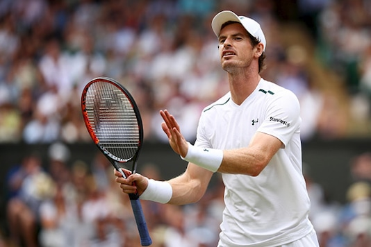 File image of Andy Murray in action at Wimbledon. (Getty Images)