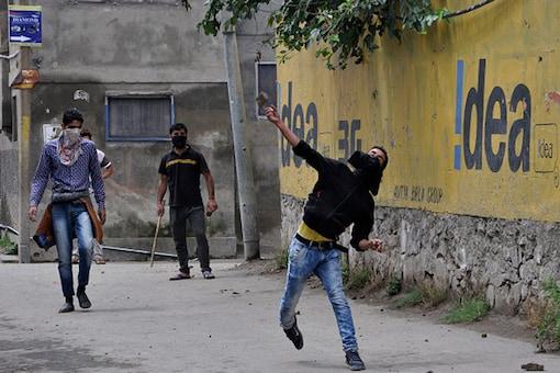 File photo of protests in Srinagar