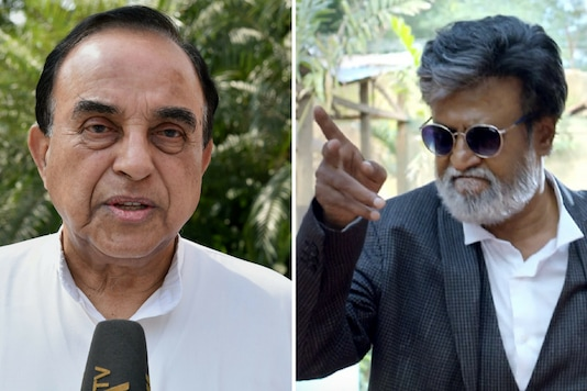 """Earlier, Swamy had questioned Rajinikanth's credentials as a """"Tamizhan"""", saying he is an outsider to Tamil Nadu."""