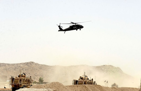 File photo of a US Military helicopter (Image: AP)
