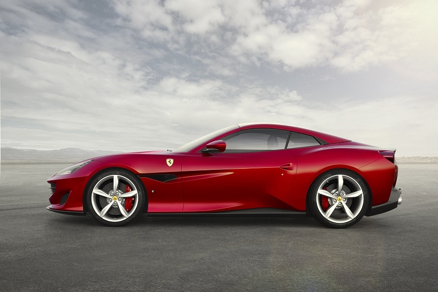 Ferrari Portofino - side view with roof closed. (Image: Ferrari)