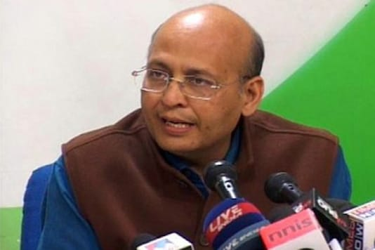 File photo of Congress leader Abhishek Manu Singhvi.