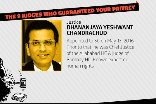 Dhananjaya Yeshwant Chandrachud was appointed to the Supreme Court on May 13, 2016