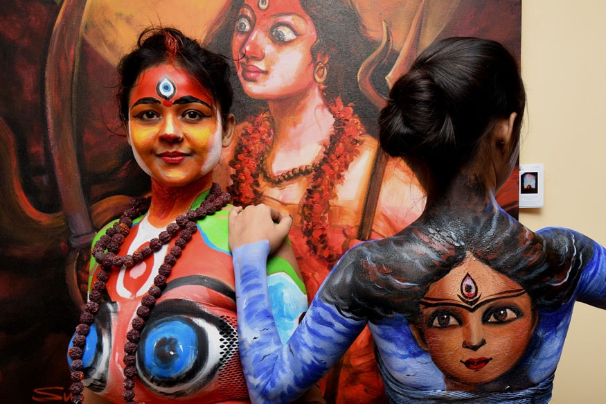 Body Painting Show >> The Live Body Painting Art Show In Kolkata Photogallery