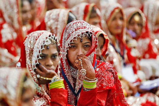 A Muslim bride waits for the start of her marriage ceremony in  Ahmedabad. Representative image/ Reuters