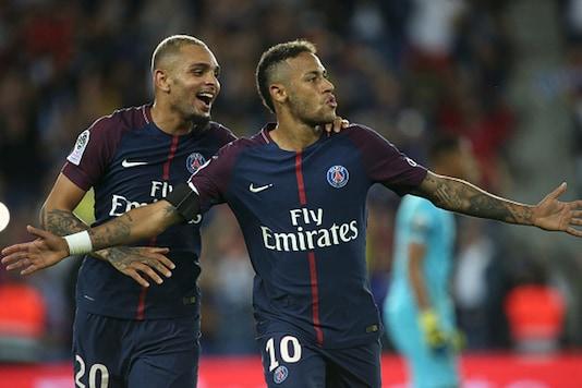 Neymar celebrating a goal for PSG. (Getty Image)