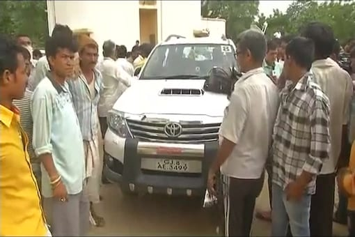 The glass pane at the rear of the car, in which Rahul Gandhi was seated, was shattered in the attack. However, the Congress VP did not suffer any injury.