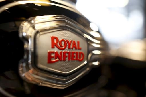 The logo of Royal Enfield. (Image: Reuters)