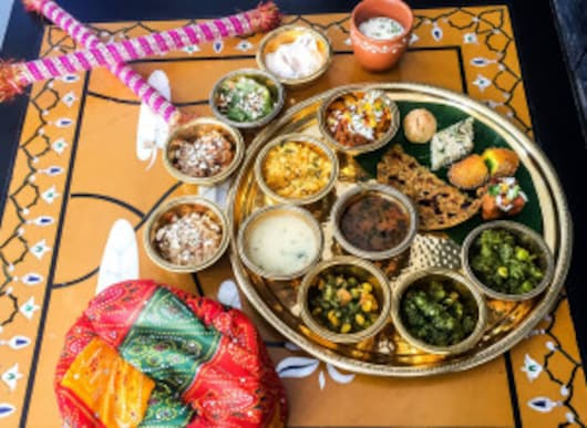 A traditional Gujarati Thali (Image courtesy: Veda's official Facebook page)