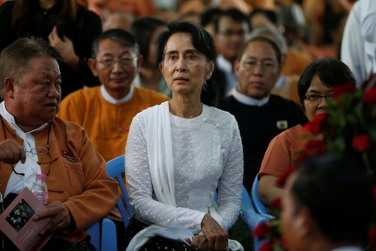 File photo of Myanmar State Counselor Aung San Suu Kyi  (Reuters)