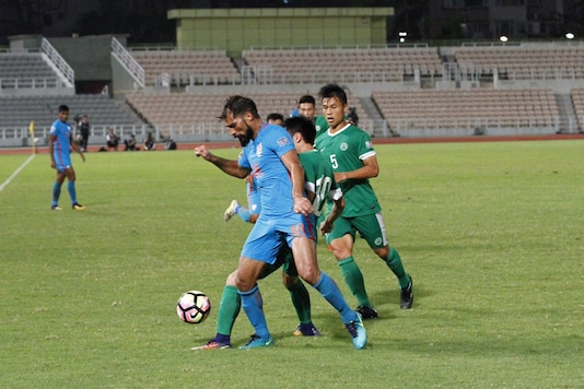 Balwant Singh scored a brace for India, (Twitter/Indian Football)