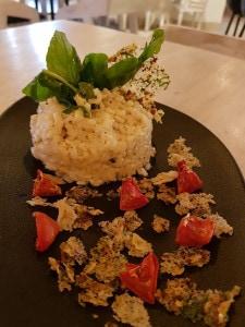 Sago risotto with leaves and Parmesan crisps as part of Cafe Tesu's Navratri menu (Image courtesy: Cafe Tesu)