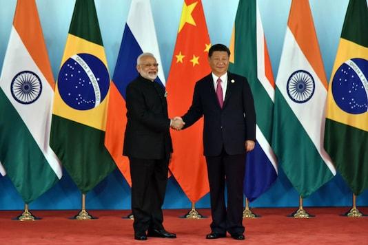 PM Modi and Xi Jinping at the BRICS Summit n Xiamen.