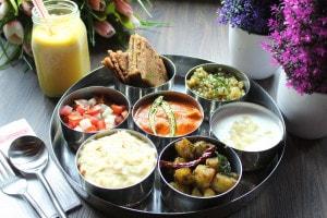 Navratri Platter at Cafe Delhi Heights (Image courtesy: Cafe Delhi Heights)