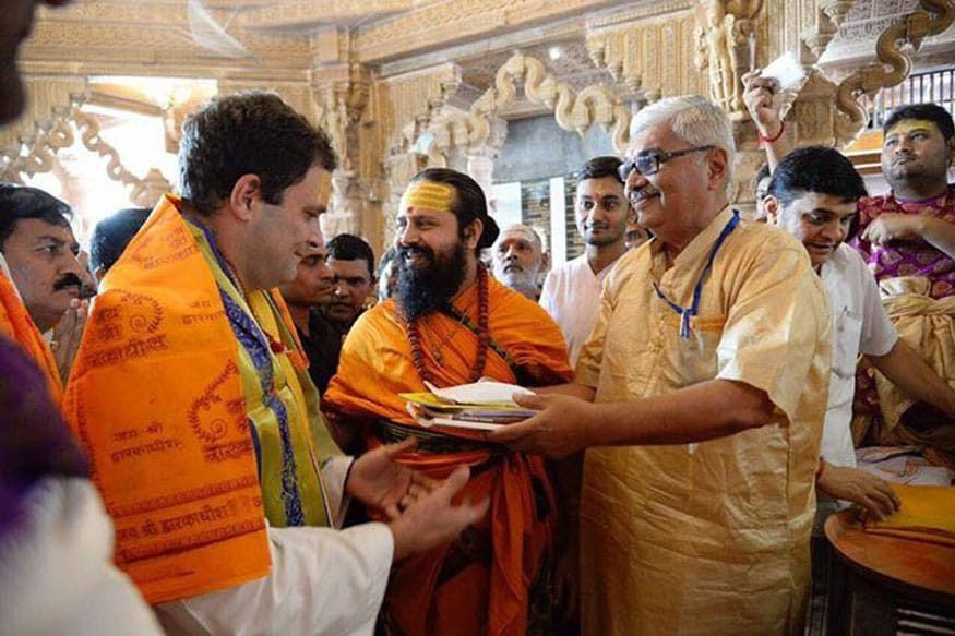 Image result for rahul visiting temples