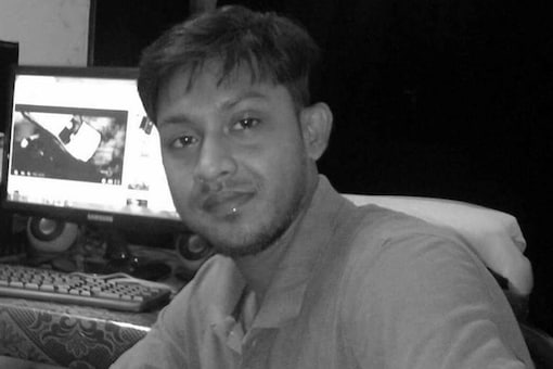 Dinrat News Channel journalist Shantanu Bhoumik, who was killed during a clash between the police and IPFT supporters.