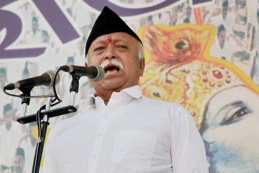 File photo of RSS chief Mohan Bhagwat. (PTI)