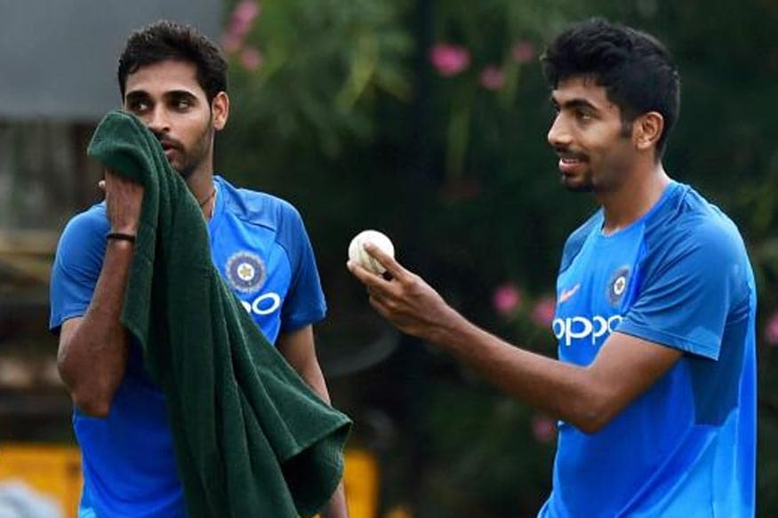 File image of Jasprit Bumrah and Bhuvneshwar Kumar (R). (Getty Image)