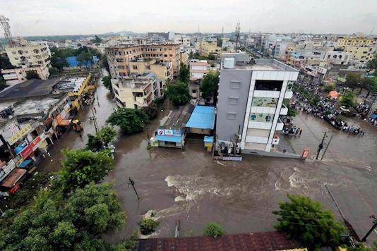 File photo of waterlogged Hyderabad. (PTI)