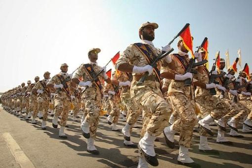 File photo of members of Iranian revolutionary guard. (Reuters)